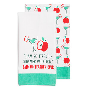 "Summer Vacation by Livin' on the Wedge - Tea Towel Gift Set (2 - 19.75"" x 27.5"")"
