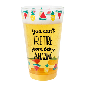 Amazing by Livin' on the Wedge - 16 oz Pint Glass Tumbler