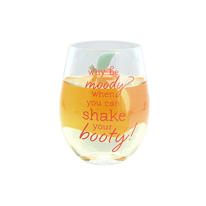 Shake Your Booty by Livin' on the Wedge - 18 oz Stemless Wine Glass