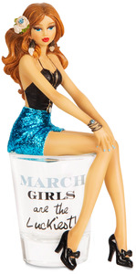 "March by Hiccup - 5.75"" Girl in Shot Glass"