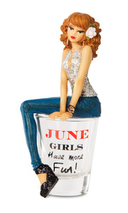 "June by Hiccup - 5.75"" Girl in Shot Glass"