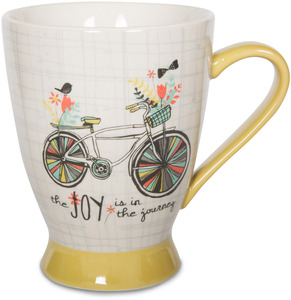 Joy in the Journey by Bloom by Amylee Weeks - 18 oz Bicycle & Bird Mug