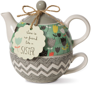 Sister by Bloom by Amylee Weeks - 15 oz. Teapot & 8 oz Cup