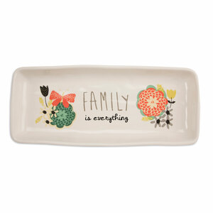 "Family by Bloom by Amylee Weeks - 11"" x 4.5"" Tray"