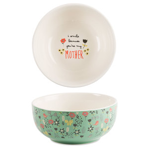 "Mother by Bloom by Amylee Weeks - 2.75""x 6"" Ceramic Bowl"