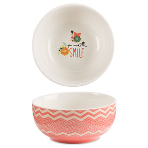 "Smile by Bloom by Amylee Weeks - 2.75""x 6"" Ceramic Bowl"