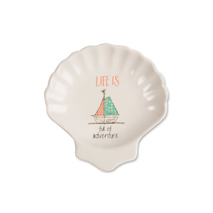 "Adventure by Seaside Bloom - 4"" Keepsake Dish"