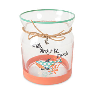 "Friends by Seaside Bloom - 4"" Glass Tea Light Holder"