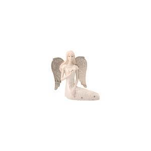 "June Birthstone Angel by Little Things Mean A Lot - 3.5"" June Angel w/ Pearl Butterfly"