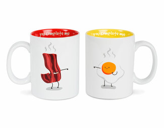Bacon and Eggs by Late Night Snacks - 18 oz Mug Set