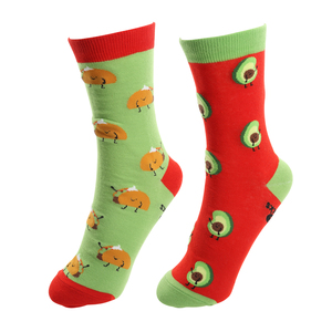 Taco and Avocado by Late Night Snacks - S/M Unisex Socks