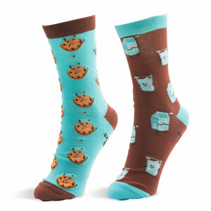 Milk and Cookies by Late Night Snacks - S/M Unisex Socks