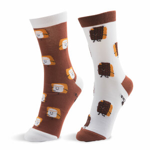 S'mores by Late Night Snacks - S/M Unisex Socks