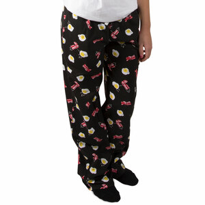 Bacon and Eggs by Late Night Snacks - XS Black Unisex Lounge Pants