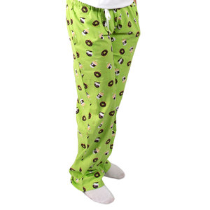 Donuts and Coffee by Late Night Snacks - S Green Unisex Lounge Pants