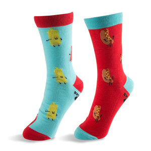 Hot Dog and Mustard & Ketchup by Late Night Snacks - S/M Unisex Socks