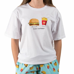 Cheeseburger and Fries by Late Night Snacks - S Unisex T-Shirt