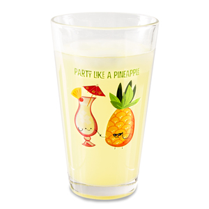 Pina Colada by Late Night Last Call - 16 oz Pint Glass Tumbler