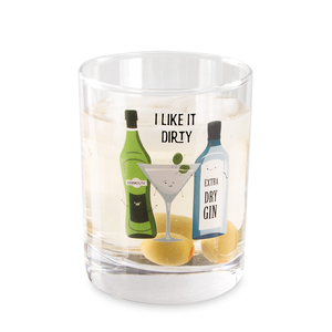 Martini by Late Night Last Call - 11 oz Rocks  Glass
