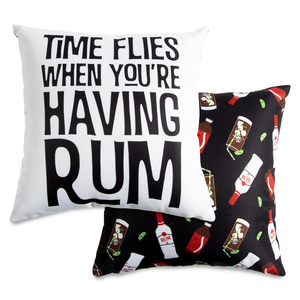 "Rum by Late Night Last Call - 14"" x 14"" Pillow"