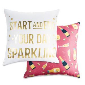 "Sparkling by Late Night Last Call - 14"" x 14"" Pillow"