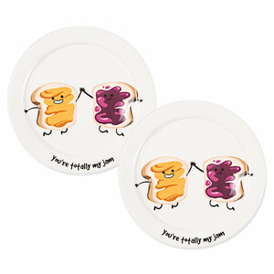 "My Jam by Late Night Snacks - 7"" Appetizer Plates (Set of 2)"