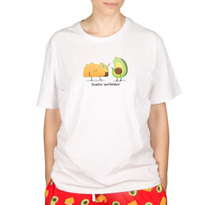 Taco and Avocado by Late Night Snacks - S Unisex T-Shirt