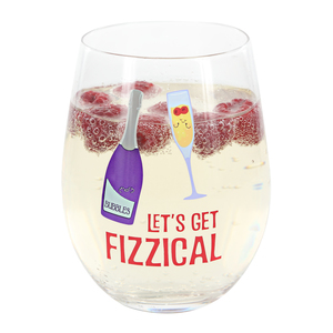 Fizzical by Late Night Last Call - 18 oz Stemless Wine Glass