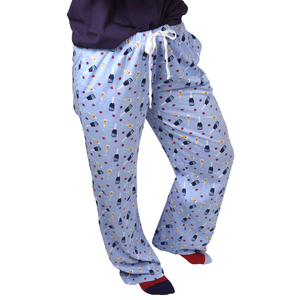 Prosecco & Raspberries  by Late Night Last Call - XS Light Blue Unisex Lounge Pants