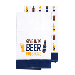 "Beer by Late Night Last Call - Tea Towel Gift Set (2 - 19.75"" x 27.5"")"