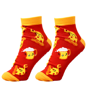 Pizza and Beer by Late Night Snacks - Cotton Blend Ankle Socks