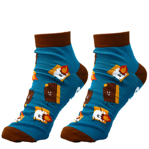 S'mores by Late Night Snacks - Cotton Blend Ankle Socks