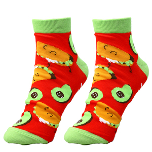Taco and Avocado by Late Night Snacks - Cotton Blend Ankle Socks