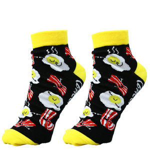 Eggs and Bacon by Late Night Snacks - Cotton Blend Ankle Socks