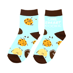 Cookies by Late Night Snacks - S/M Youth Cotton Blend Crew Socks