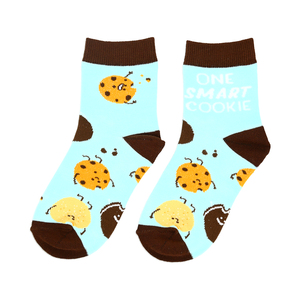 Cookies by Late Night Snacks - M/L Youth Cotton Blend Crew Socks