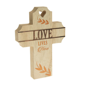 "Love by Blessed by You - 8"" Self Standing Cross Plaque"