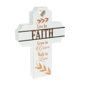 "Faith by Blessed by You - 8"" Self Standing Cross Plaque"
