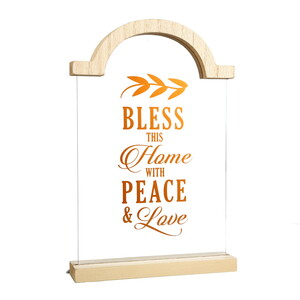 "Home by Blessed by You - 9"" Self Standing Plaque"
