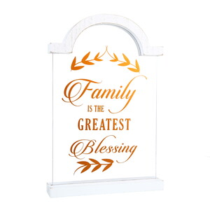 "Family by Blessed by You - 9"" Self Standing Plaque"