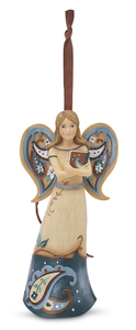"Spiritual Wisdom by Perfectly Paisley - 4.5"" Angel w/Book Ornament"
