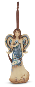 "Cherish Today by Perfectly Paisley - 4.5"" Angel w/Flower Ornament"