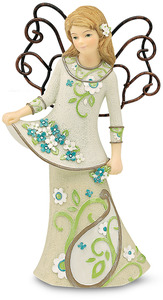 "Beauty by Perfectly Paisley - 5.5"" Angel Holding Flowers"