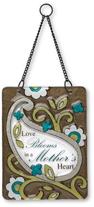 "Mother by Perfectly Paisley - 6"" x 8"" Hanging Glass Plaque"