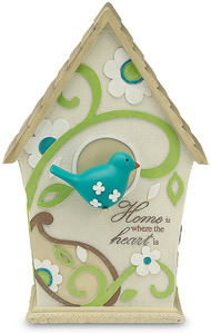 "Home by Perfectly Paisley - 7.5"" Decorative Birdhouse"