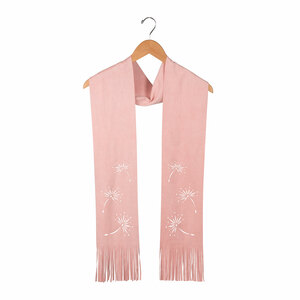 "Pale Pink by Dandelion Wishes - 72"" Micro Suede Scarf"