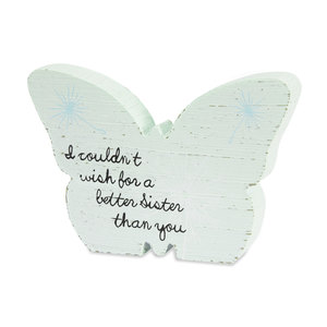 "Sister by Dandelion Wishes - 5"" MDF Butterfly"