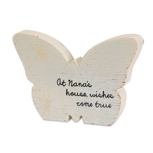 "Nana by Dandelion Wishes - 5"" MDF Butterfly"