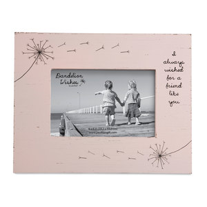 "Friend by Dandelion Wishes - 7.25"" x 9.25"" Frame (Holds a 4"" x 6"" Photo)"