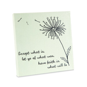 "Faith by Dandelion Wishes - 5"" x 5"" Canvas Plaque"